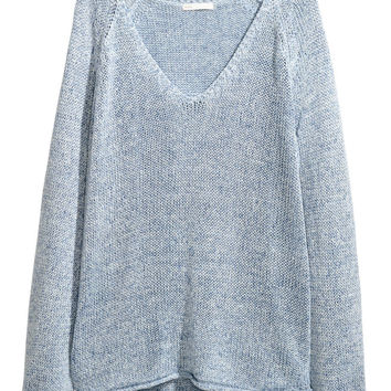 Loose-knit Sweater - Light blue marl - Ladies | H&M US