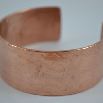 Polished Copper Cuff, Copper Bracelet, Cuff Bangle, Copper Cuff, Copper Jewelry, Handcrafted Jewelry, Unisex Jewelry, Polished Cuff