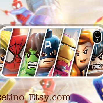 Marvel SuperHeros Lego iPhone Case ,Sumsung Galaxy S3, iPhone 5 Case , iPhone 4 Case , iphone 4s case , Plastic hard case, Hulk ,Wolverine