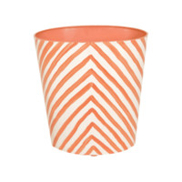 Zebra Oval Wastebasket in Orange