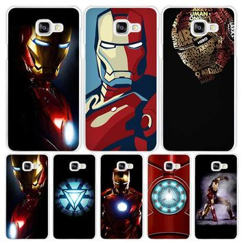 Superhero ironman Hard White Coque Shell Case Cover Phone Cases for Samsung Galaxy A3 A5 A7 2016 2017 A8 A9