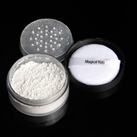 Magical Halo Long Lasting Loose Powder Waterproof Matte Setting Powder With Puff Concealer Light Powder Mineral Makeup