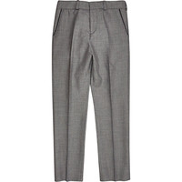 River Island Boys grey silver suit pants