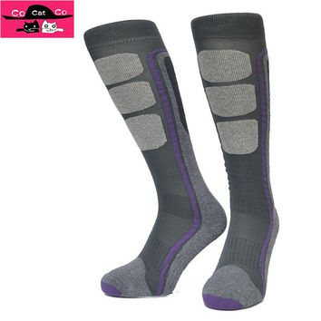 Winter Snowboard Socks Men Warming knee high Wool Sox Hit Color Long Socks For Men And Women