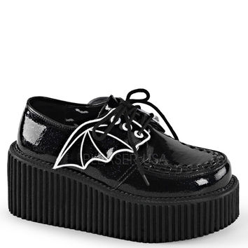 Demonia Bat Wing Black Platform Creepers