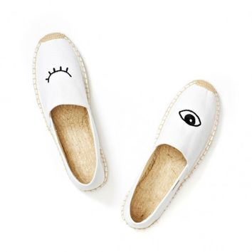 Jason Polan Wink - White slip on shoes for Women from Jason Polan & Soludos - Soludos Espadrilles