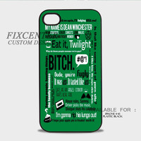 Supernatural Green Plastic Cases for iPhone 4,4S, iPhone 5,5S, iPhone 5C, iPhone 6, iPhone 6 Plus, iPod 4, iPod 5, Samsung Galaxy Note 3, Galaxy S3, Galaxy S4, Galaxy S5, Galaxy S6, HTC One (M7), HTC One X, BlackBerry Z10 phone case design