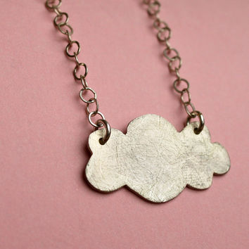 Cloud Necklace With Chain in Sterling Silver