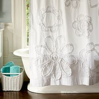 Ruffle Flower Bathroom
