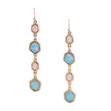 New Fashion Ethnic Summer Style Beautiful Resin Bead Long Tassel Hook Dangle Earrings For Women High Quality