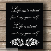 Creating Yourself Typography Wall Art by JaneAndCompanyDesign