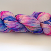 YEAR END SALE! Sparkle Lace Color Give It A Rest Hand Dyed Yarn Merino, Silk, Stellina
