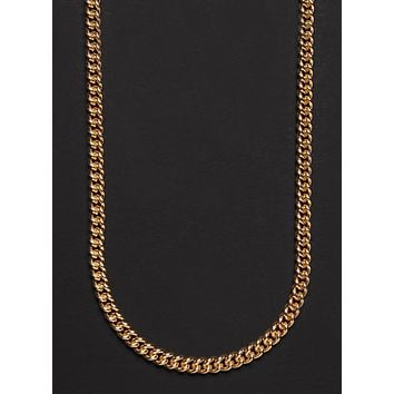 14K GOLD FILLED MEDIUM CURB CHAIN NECKLACE