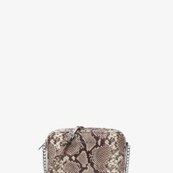 Bedford Large Embossed-Leather Crossbody | Michael Kors
