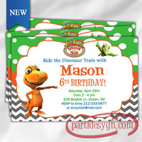 Dinosaur Train - Birthday Invitation - Digital File