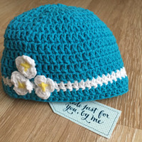 Crochet Baby Love Me Love Me Not... Hat - Baby Shower Gift