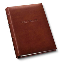 "Gallery Leather: Desk Address Book: Leather Address Book 9"" x 7"""