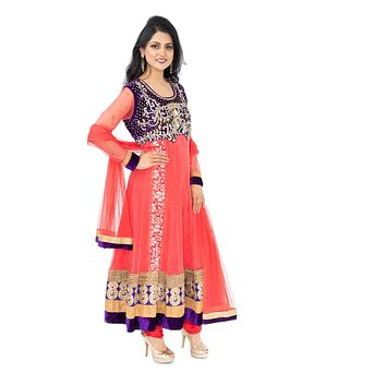 Ultra Petal with stonework  Indo-Western Long Anarkali Gown