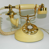 "SOLD-Lovely Vintage French Style ""Sweet Talk"" Rotary Phone"