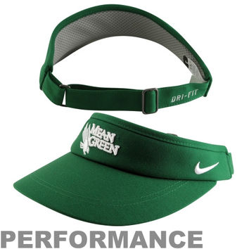 Nike North Texas Mean Green 2013 Sideline Dri-FIT Adjustable Performance Visor – Green - http://www.shareasale.com/m-pr.cfm?merchantID=7124&userID=1042934&productID=520993858 / North Texas Mean Green