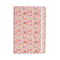 "Carolyn Greifeld ""Pink Flowers Garden"" Pink Red Everything Notebook"