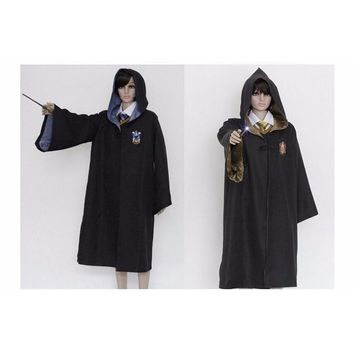 Men Harri Potter Costume Halloween Costume For Adult Gryffindor Robe Cloak Magic Academy Party Cosplay Robe 5 Sizes