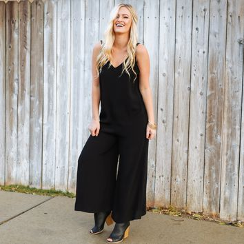 One & Done Jumpsuit in Black