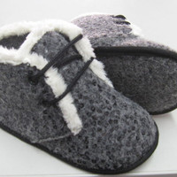 ABA Baby Booties Made Of Libeccio With Laces SizE:4.5 (9-12M)