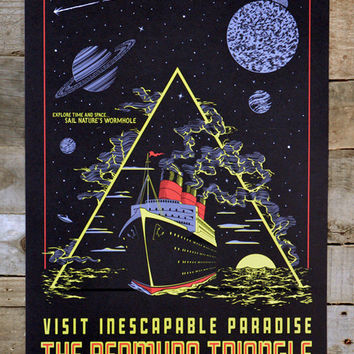 "Bermuda Triangle - Glow in the Dark POSTER 12"" x 18"""