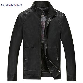 Man Leather Jackets Casual Leather Coats Men's Motorcycle Jacket Male Faux Sheep Skin Motorcycle Clothing