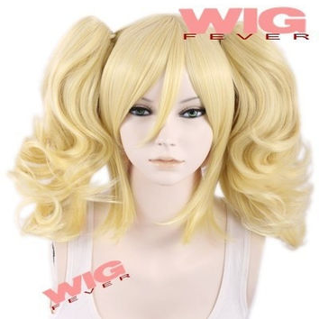 Anime BATMAN Harley Quinn Short Blonde Anime Cosplay wig f