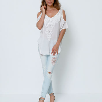 Break Time Distressed Cropped Skinny Jeans
