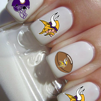 Minnesota Vikings NFL Football nail decals tattoos nail art