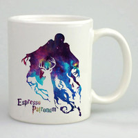 expecto patronum harry potter espresso patronum in galaxy mug two face, white mug,custommug