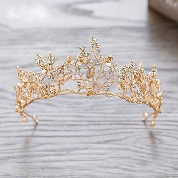 Fantasy Crown Gold Leaf Taira Dragonfly Princess Fairy Cosplay