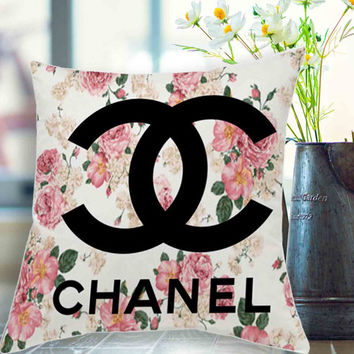 """chanel floral background pillow case # 18"""" x 18"""" , 16"""" x 24"""" , 20"""" x 30"""""""