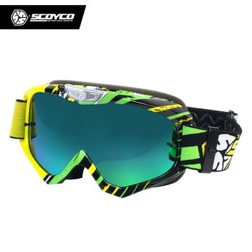 SCOYCO Motorcycle Glasses Frame Cycling Goggles MX Off-road Helmets Ski Sport Gafas Motocross Racing Goggles Universal