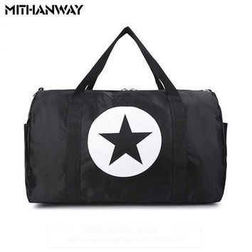 ICIKUH3 Large Capacity Five-Pointed Star Women Men Duffel Bag Multifunction Portable Sports Travel Gym Fitness Bag