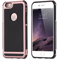 i6 6S Slim Capa Armor Coques Durable Shockproof Back Cover For Apple iPhone 6 6S 4.7 Hit Color TPU + PC Hybrid Cool Knight Case