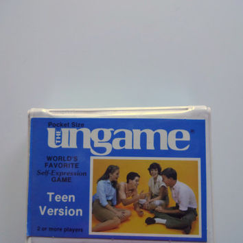 Vintage The Ungame Teen Travel Card Game 1989