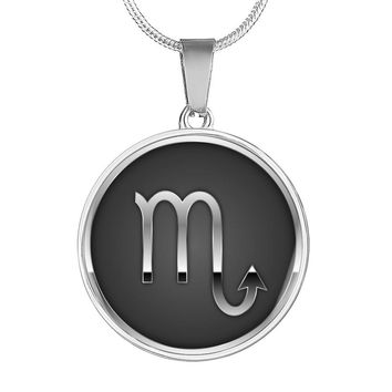 Scorpio necklace in sterling silver and 18k gold
