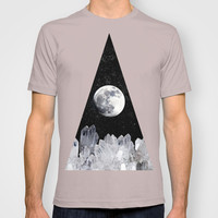 White Moon T-shirt by Olivia James