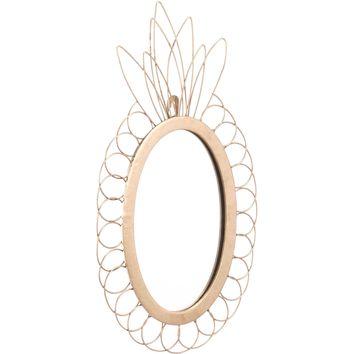 Gold Pineapple Wall Mirror