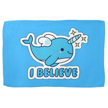 Narwhal I Believe Towel