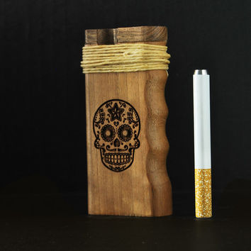 California Sea // Sugar Skull Dugout One Hitter with Hemp wick