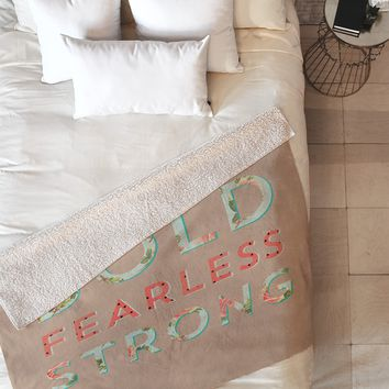 Allyson Johnson Bold Fearless And Strong Fleece Throw Blanket