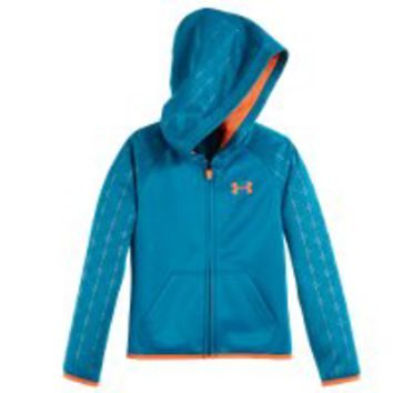 Under Armour Girls' Pre-School UA Armour Fleece Maze Grid Hoodie