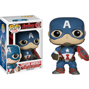 Captain America Avengers Age Of Ultron Pop Vinyl Figure Bobble Head