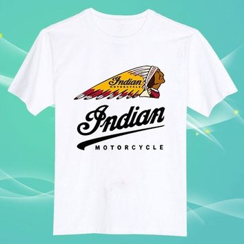 Indian Motorcycle Victory O Neck Cotton Unisex Tee Short Sleeve Men T Shirt