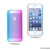i-UniK iPhone 5 Lucent Gradient Dew Slim Protection Case [w/Bonus Screen Protector]-(Rainbow)